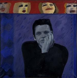 Pauline Boty's portrait of Derek Marlowe